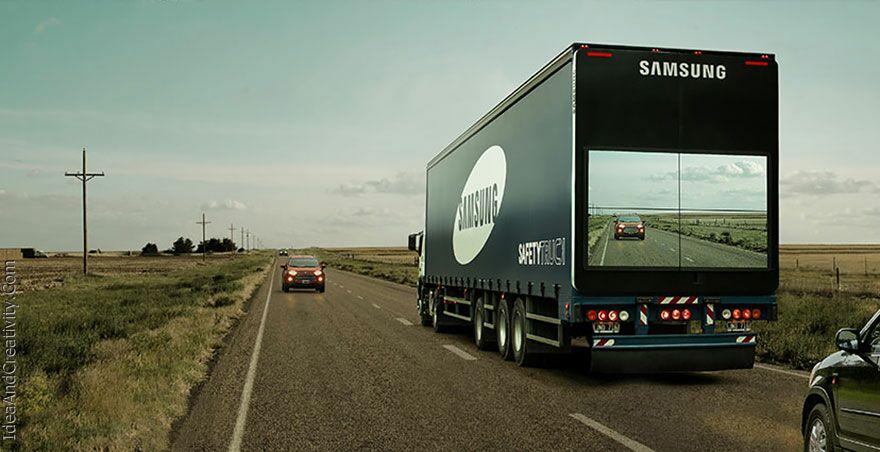 فناوری سامسونگ بر روی کامیون ها