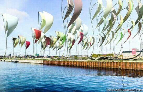 تولید انرژی پاک از بادبانهای رنگارنگ