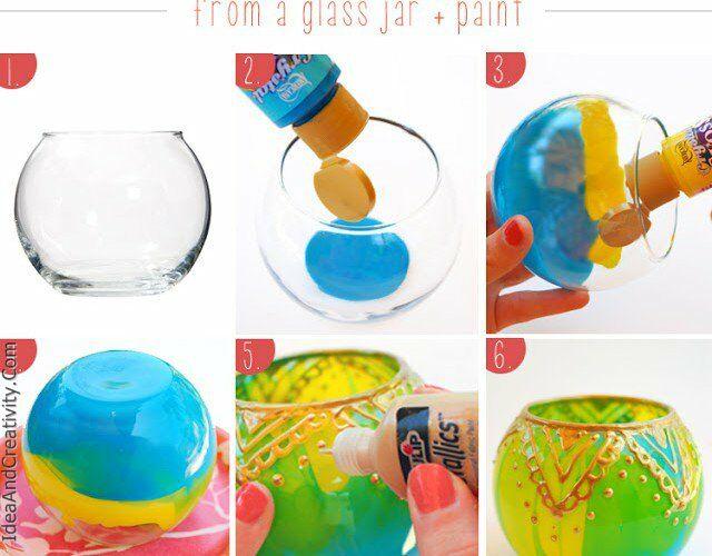 ایده های آسان برای ساخت جا شمعی های خلاقانه