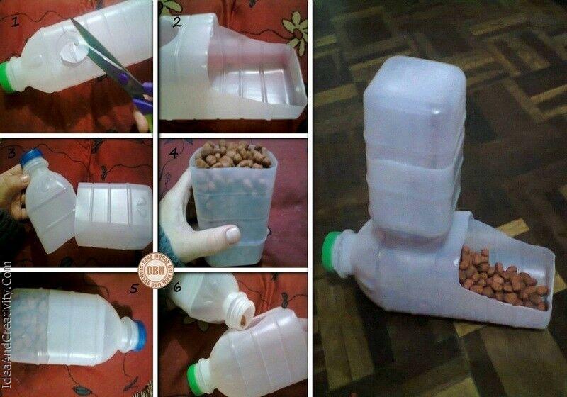 روش های استفاده از بطری های پلاستیکی دور ریختنی