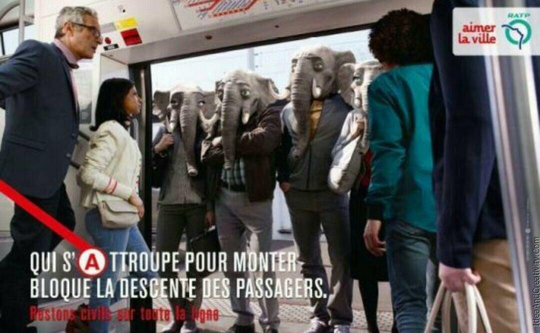 حرکت فرهنگی جالب در متروی فرانسه