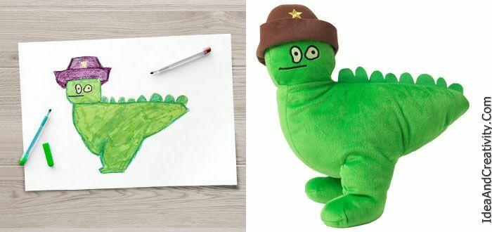 IKEA نقاشی کودکان را به عروسک تبدیل نموده