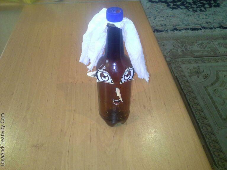 با بطری ساختمشون