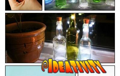 تبدیل بطری های شیشه ای دورانداختنی به لامپ های بسیار زیبا