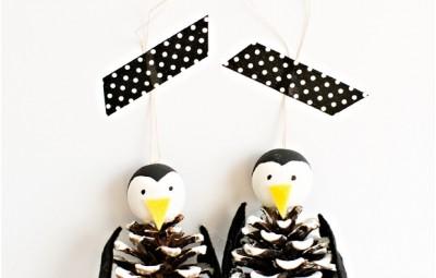 پنگوئن ها در روز برفی