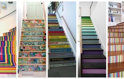 راه پله های تزئین شده که شما می توانید از آن ها ایده بگیرید