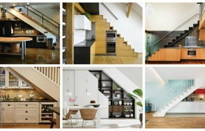 ایده های بسیار جالب برای استفاده از فضای زیر پله ها در داخل خانه