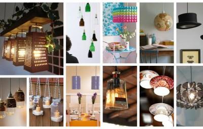 لامپ های بسیار زیبا و خلاقانه از مواد بدردنخور