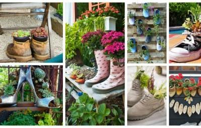 خلاقیت با کفش های قدیمی