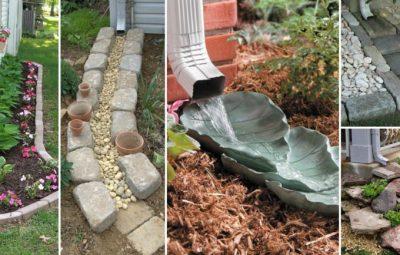 ۱۰ ایده فوق العاده برای هدایت آب باران در حیاط منزل