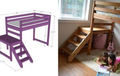 Creative-Ideas-DIY-Camp-Loft-Bed-with-Stairs