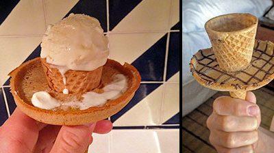 ایده ای برای جلوگیری از ریختن بستنی به روی لباس