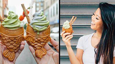 نون بستنی به شکل ماهی