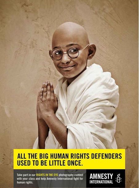 همه اشخاص مهمی که در حال حاضر از حقوق بشر دفاع میکنند ،خود زمانی کودک بودند!
