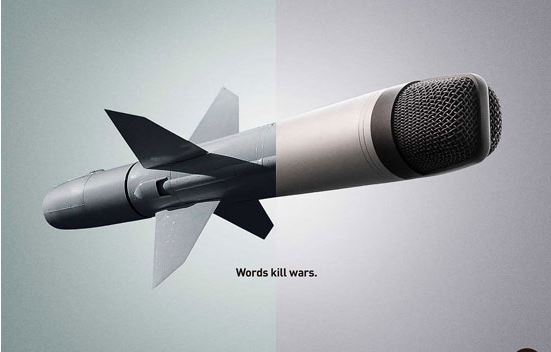 واژه ها جنگ را میکشد!