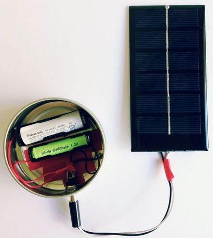 با پنل های خورشیدی شارژر باتری بسازیم