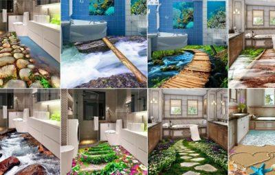 طرح های سه بعدی برای حمام دستشویی