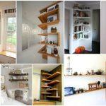 قفسه هایی فوق العاده برای گوشه های اتاق