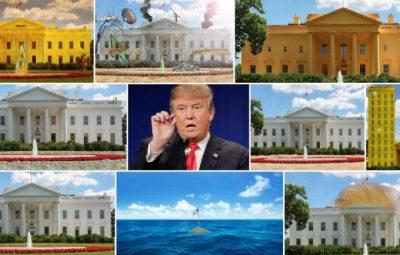 کاخ سفید وقتی ترامپ و خانواده اش به آنجا نقل مکان کنند به روایت فتوشاپ