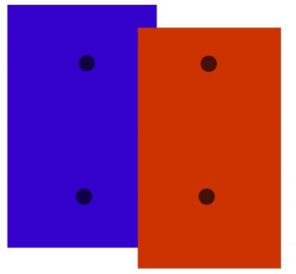 خطوط رسم شده ضخیم اند و تا حدی بر روی هم افتاده اند. از این رو آنها همدیگر را « قطع » کرده اند.