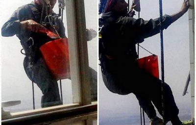 «تینا» دختر شیشهپاککن، بر فراز برجهای بلند تهران!
