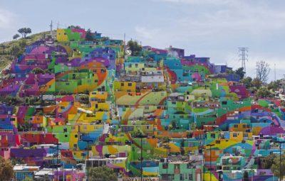 تغییر شهر اراذل و اوباش در مکزیک با نقاشی های شاد