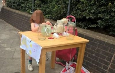 دختر پنجسالهای که برای فروش لیموناد جریمه شد، دهها پیشنهاد کار دریافت کرد