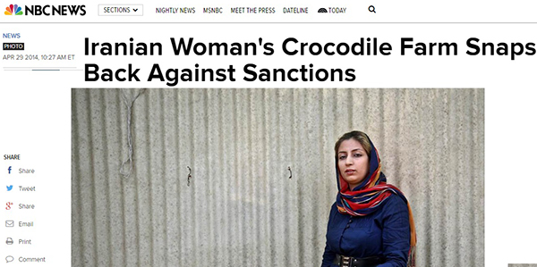 (گزارش شبکه NBC NEWS از فعالیت بانوی ایرانی در شرایط تحریم)
