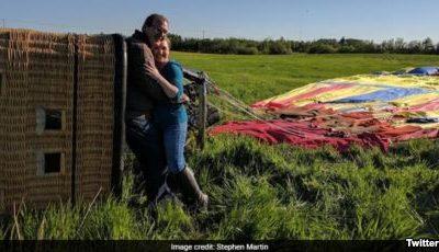 نامزدی یک زوج در آسمان نزدیک بود به فاجعه تبدیل شود؛ سقوط بالن بعد از خواستگاری