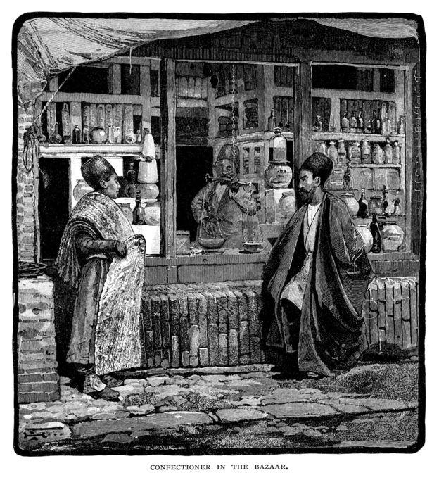 قنادی در بازار تهران ۱۸۸۶