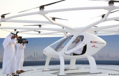 دبی اولین تاکسیپرنده خود را آزمایش کرد